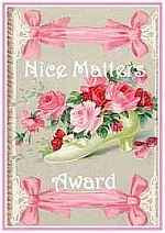 NICE BLOG AWARD!