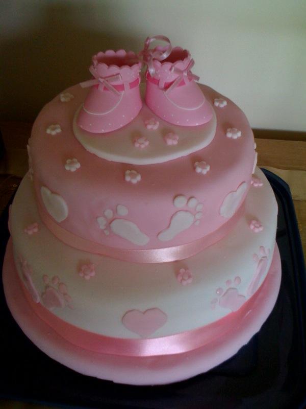 Pink Baptism Cake Ideas