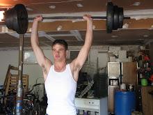 Josh lifting 100 lbs