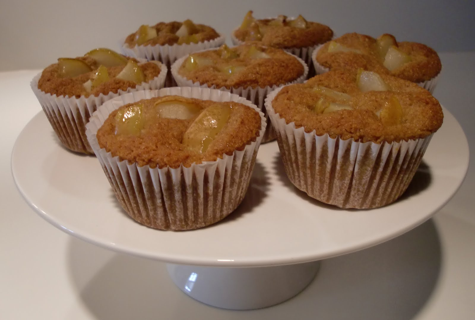 gluten-free treats: Pear Cornmeal Muffins