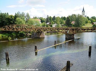 järnvägsbron, järnvägsbro, gammal, gamla, sunne, värmland