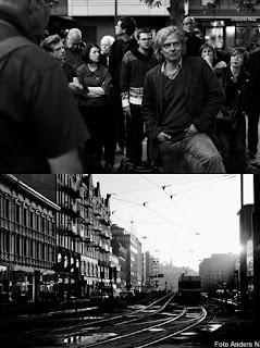 Jan Jörnmark, stadsvandring, promenad, stadspromenad, linnegatan, övergivna platser, första långgatan, solnedgång, spårvagn, foto anders n