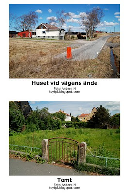 huset vid vägens ände, house at the end of the road, tomt, empty, foto anders n
