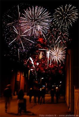 kulturnatten karlshamn 2010 blekinge fyrverkerier fireworks gata street foto anders n