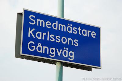 Degeberga Göteborg smedmästare Karlsson Karlssons gångväg smed smeden degeberga Foto Anders N