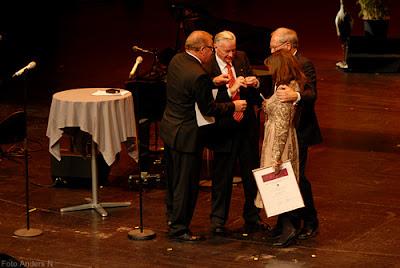 Sophie Calle, Lennart Nilsson, prisutdelning, award ceremony, Hasselbladspriset 2010, Hasselblad Award 2010, Hasselblad Center, Göteborg, Gothemburg, Gothenburg, foto anders n