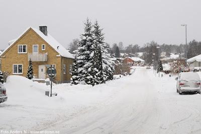 Olofström, Blekinge, snö, vinter, snow, winter, bredgatan, foto anders n