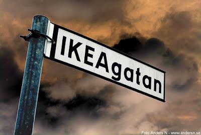 IKEA, ikea, ikeagatan, Ingvar Kamprad, vägskylt, street sign, älmhult, sverige, sweden, varuhus, foto anders n