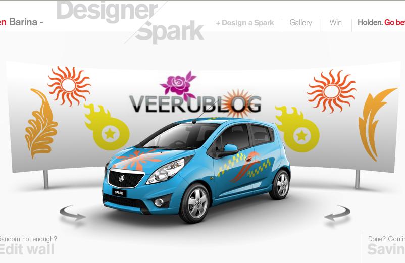 Designerspark Create Your Own Holden Barina Spark Car