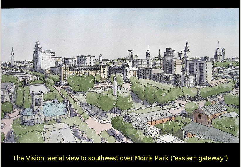 looking east and to the future over Morris Park