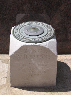 0 mile marker outside the U.S Customs House, downtown Memphis