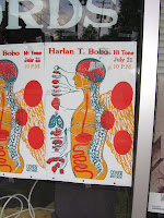 Harlan T. Bobo poster, Goner Records, Young Avenue, Memphis