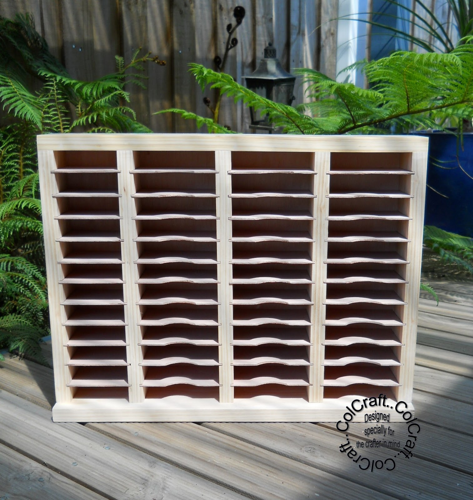 This ink rack holds 12 distress inks and 36 ink pads (stazon st&in up versafine and other quality pads) and each of the small shelves are removable and ... & Lynnu0027s Designer Creations: BEAUTIFULLY MADE WOODEN INK HOLDERS BY ...