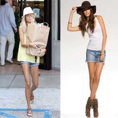 Nicole Richie Jean Shorts. Anlo quot;Cammiequot; denim shorts in