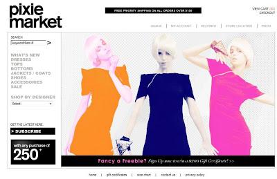 Pixie Market boutique homepage @ Dream Sequins