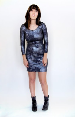 Blue metallic Cristalette dress from Stand Up Comedy @ Dream Sequins