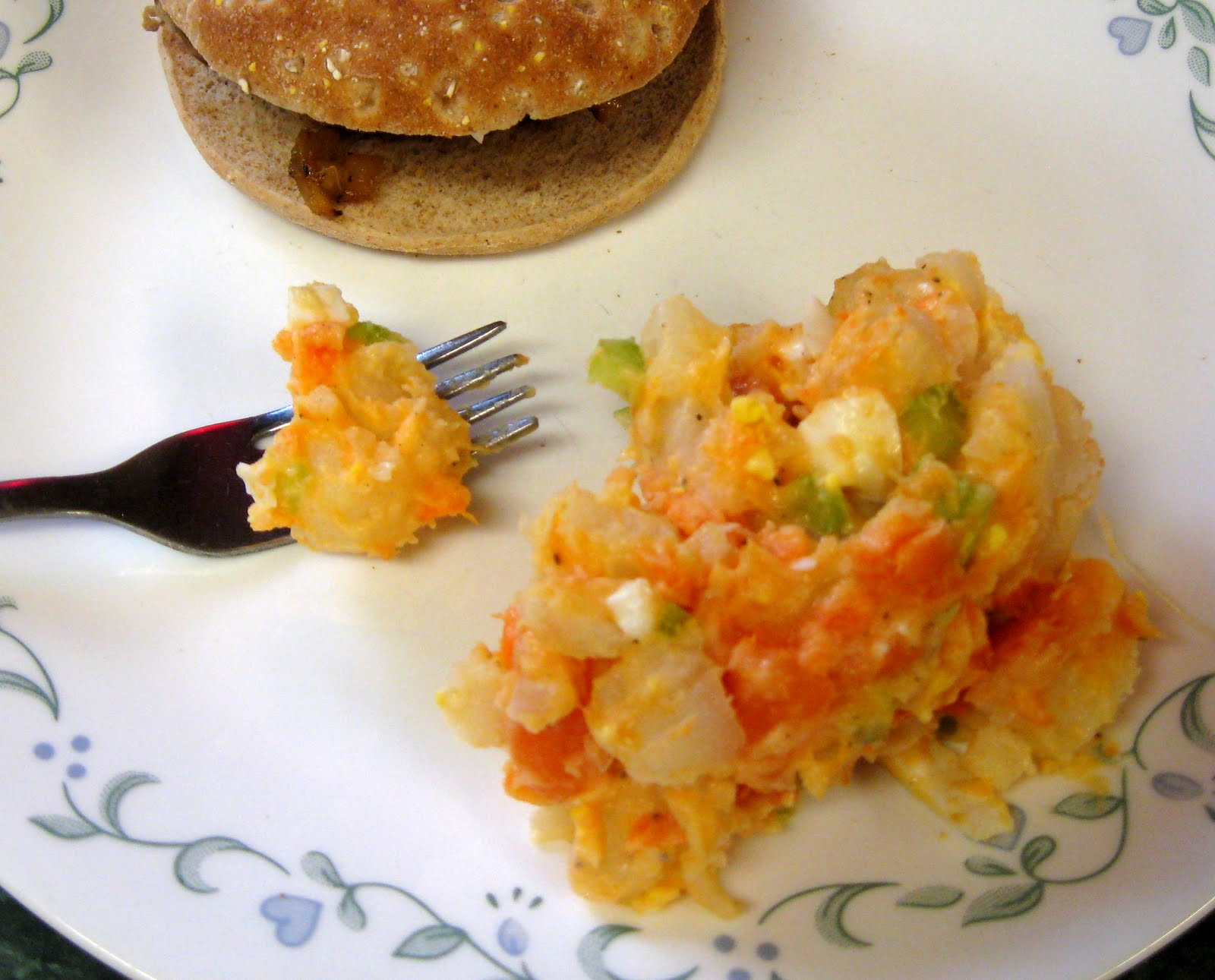 Debbi Does Dinner... Healthy & Low Calorie: Sweet Potato, Potato Salad