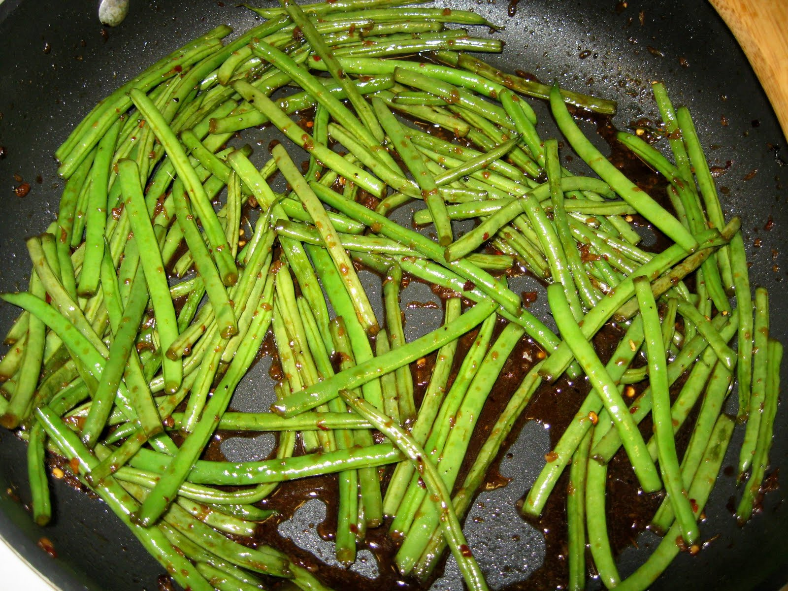 ... Does Dinner... Healthy & Low Calorie: Asian Style Fresh Green Beans