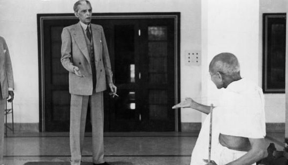 Mahatma Gandhi and Jinnah in a conversation - 1939