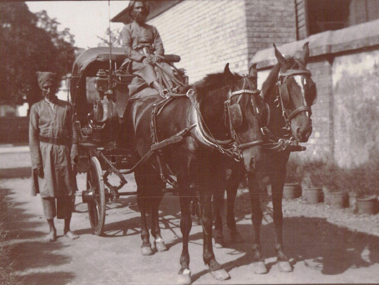 Horse-drawn Car, Calcutta c.1903