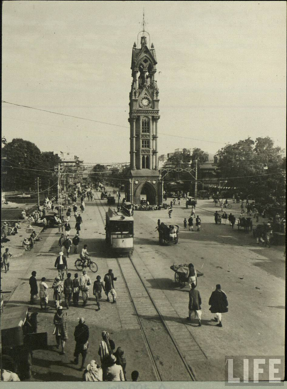 Delhi Road with Tram and Watch Tower