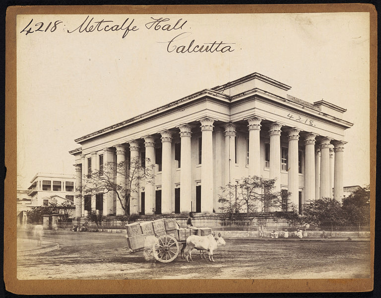 Metcalfe Hall Calcutta (Kolkata) - Mid 19th Century