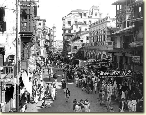 Bombay (Mumbai), India – Street of the Pearl Dealers - 1912