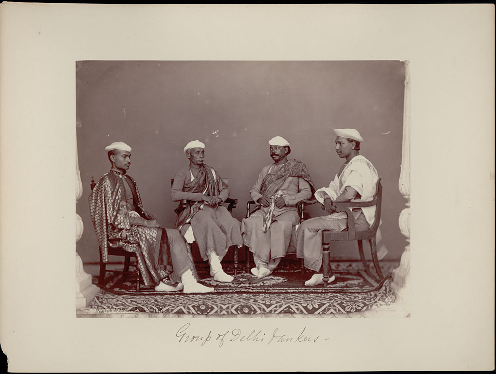 Portrait of Four Delhi Bankers - Charles Shepherd 1862