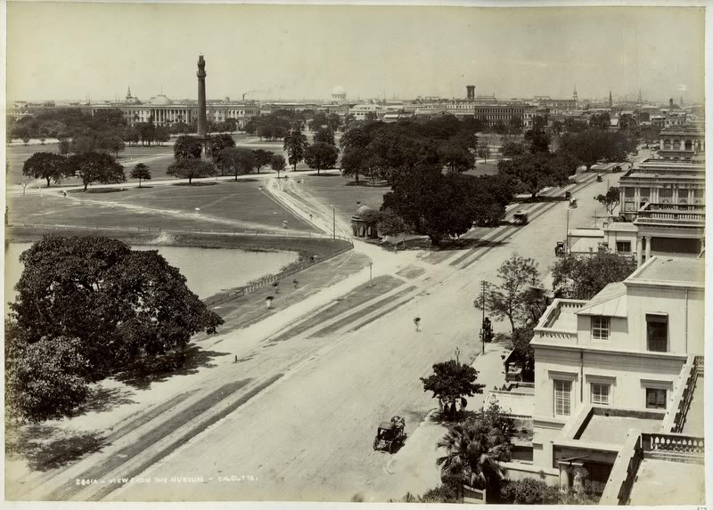 View From Museum - Calcutta (Kolkata) 1880's
