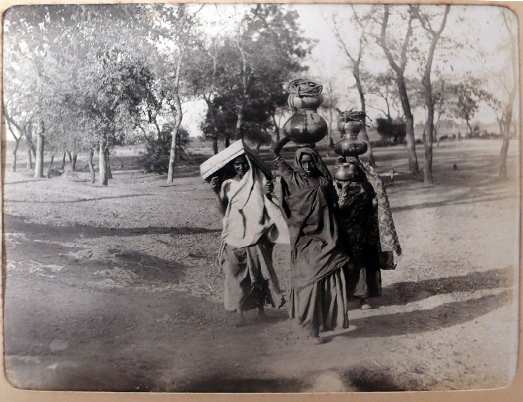 Village Women are Carrying Water