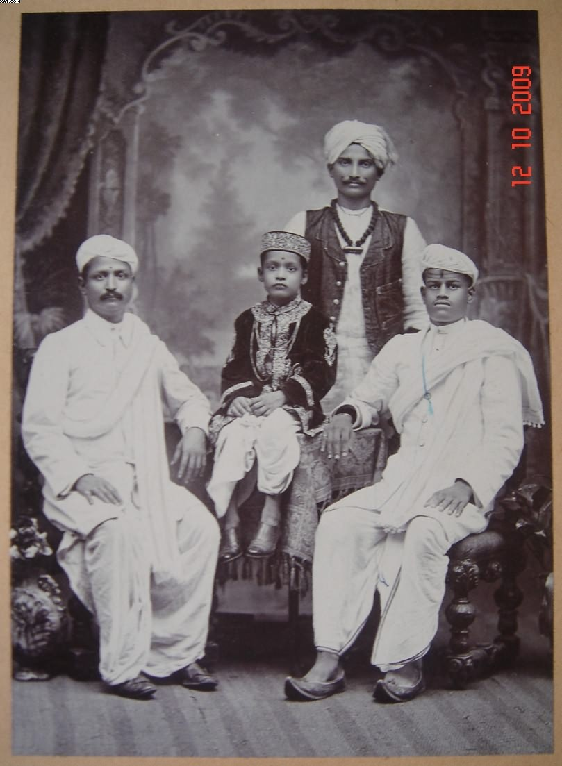 Vintage Studio Photograph of Marwari Traders - Bombay (Mumbai)