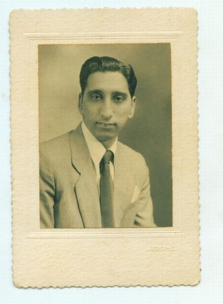 Vintage Portrait of Indian Man