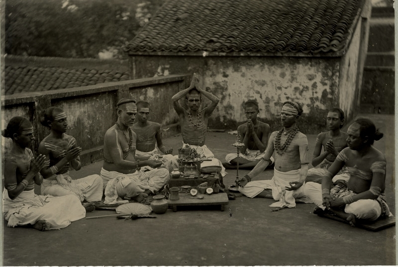 Group of Hindu Holy Men  - 1890's
