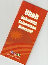 """Buku Jingga """"Ubah Sekarang, Selamatkan Malaysia"""" - Cetak dan Edarkan Segera kepada Rakyat Malaysia"""