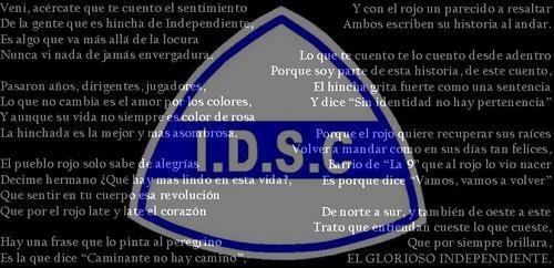 Gracias Independiente por hacerme sentir un grande..