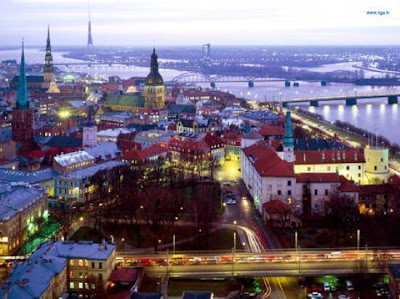 The old town of Riga, in Latvia.