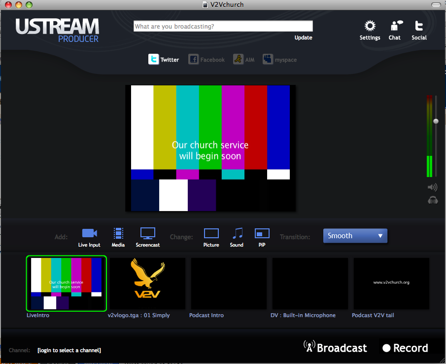free church video streaming software
