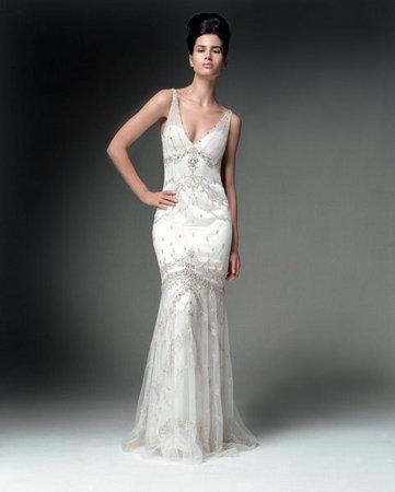 December 2010 wedding dresses simple wedding dresses for Sheath v neck wedding dress