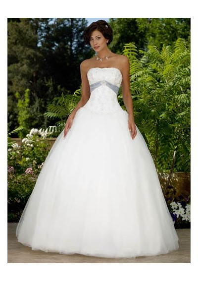 Gorgeous strapless tulle wedding dress wedding dresses for Tulle halter wedding dress