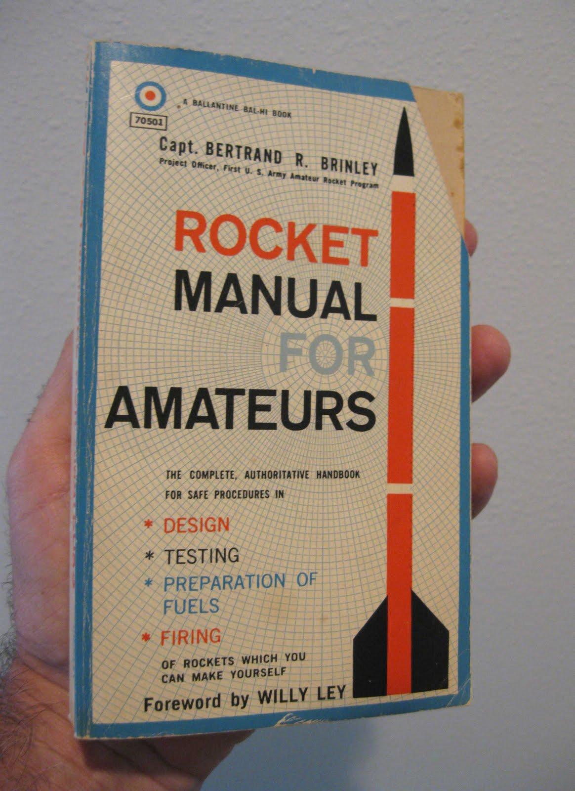 model rocket building  rocket manual for amateurs book