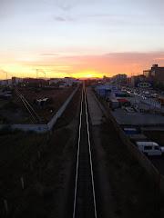 Solnedgang i Ulan Bataar