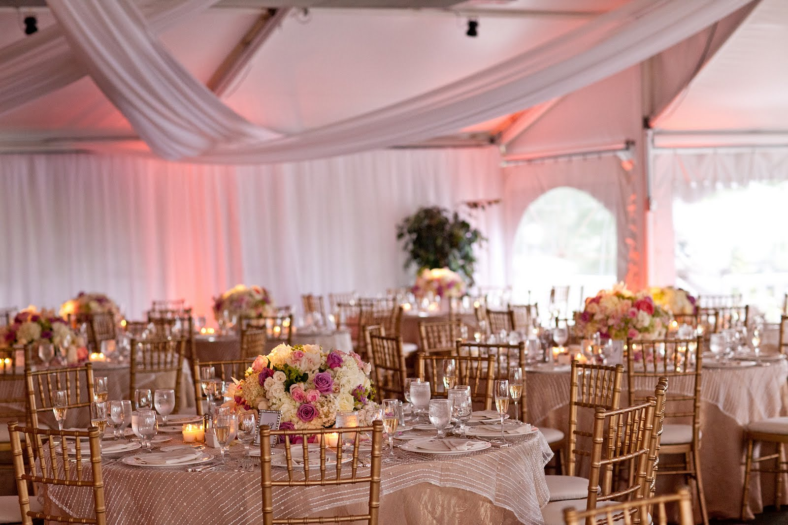 wedding linens how to best dress your tablecloths for wedding Speaking of overlays here is an example of a sheer beaded overlay on lop of a floor length beige tablecloth I am a personal fan of using overlays because