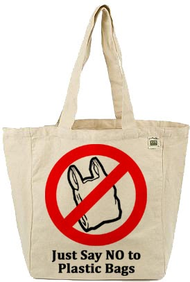 say no to plastic bags Nature is given to man by god as a gift,isn't it his duty to preserve it with thriftplastics and paper bags are given as a choice,one say no to plastics.