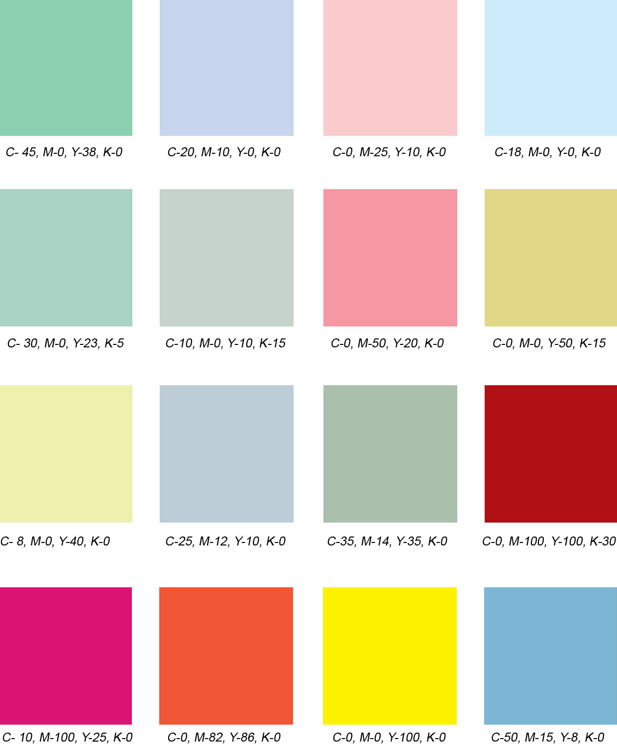 50s color palette 28 images how to decorate a for Paint color schemes