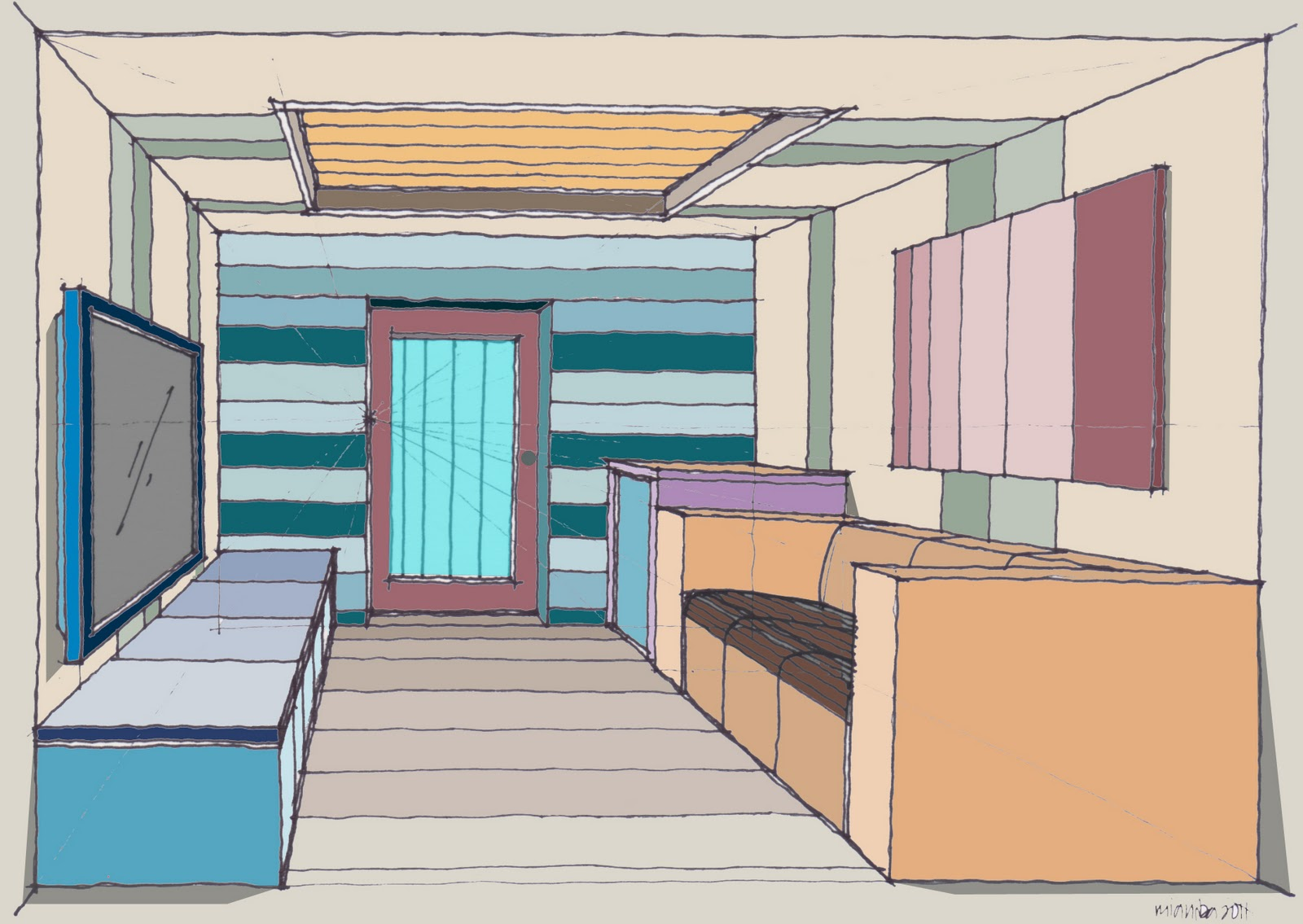 Sketch Draw How To Draw A Room 210111