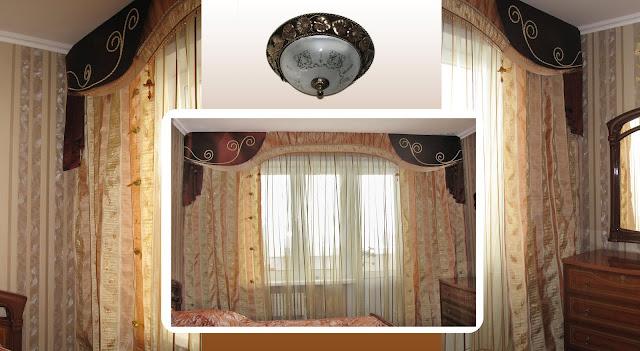 бандо, дизайн интерьера, шторы для спальни