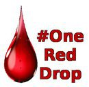 image of a blood red teardrop with the text 