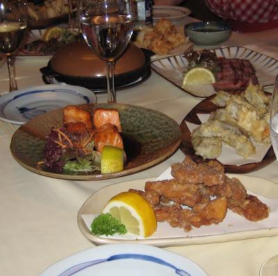 pollastre, salmó, tempura...