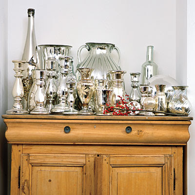 elements design decorating with mercury glass