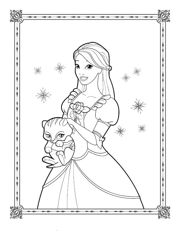 Thanks For Looking Barbie In A Fashion Fairytale Coloring Pages